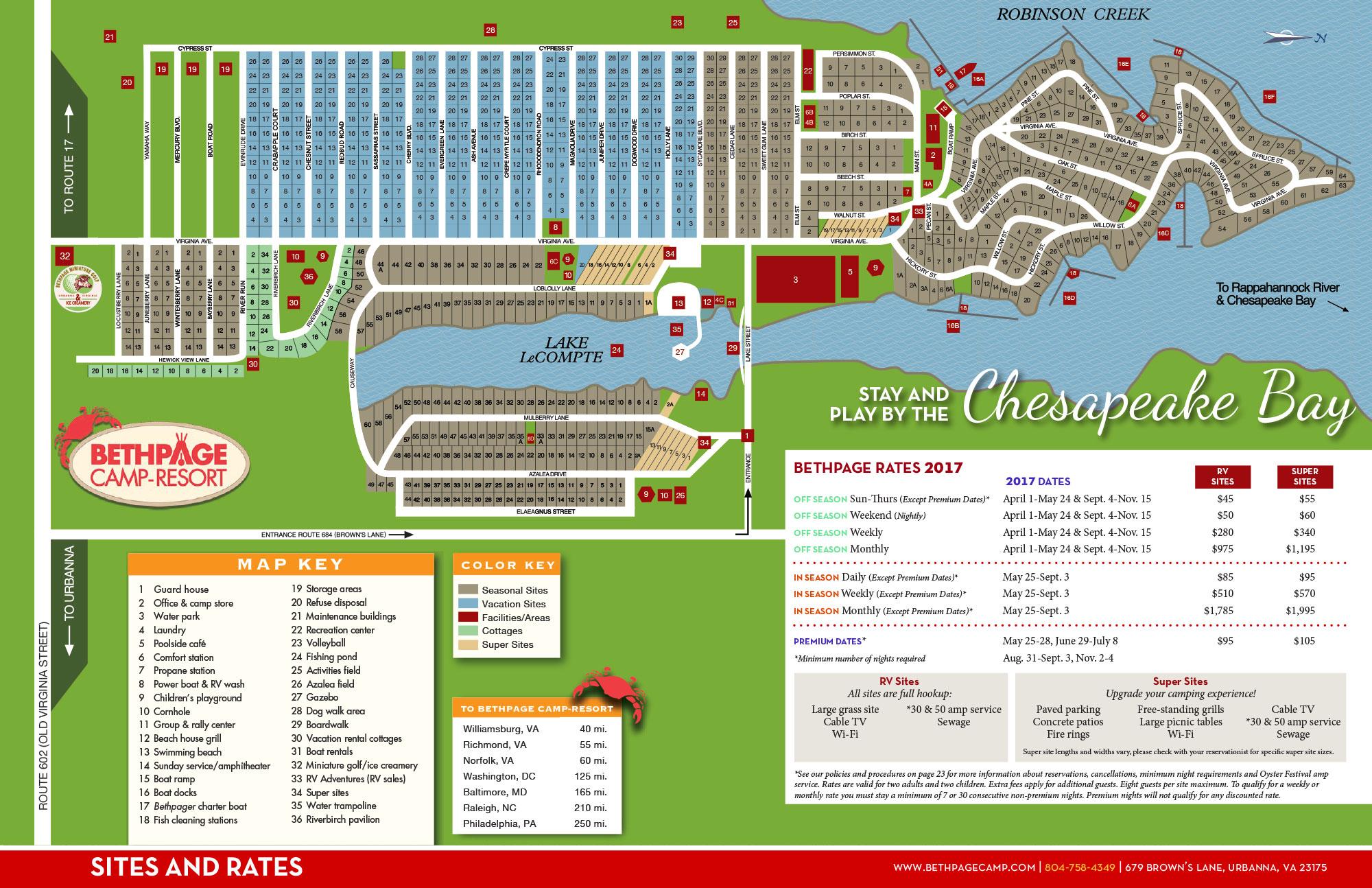 Resort Map Bethpage Camp