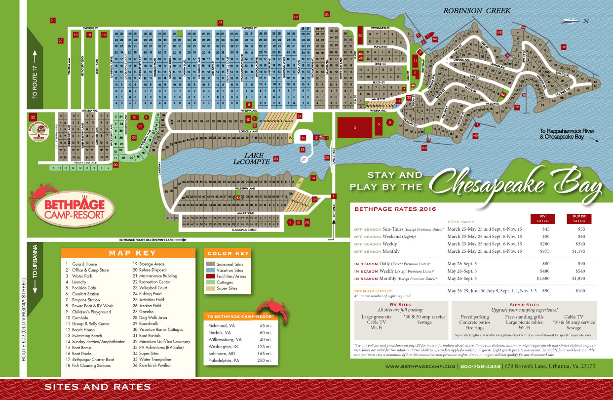 Resort Map Bethpage Camp Resort