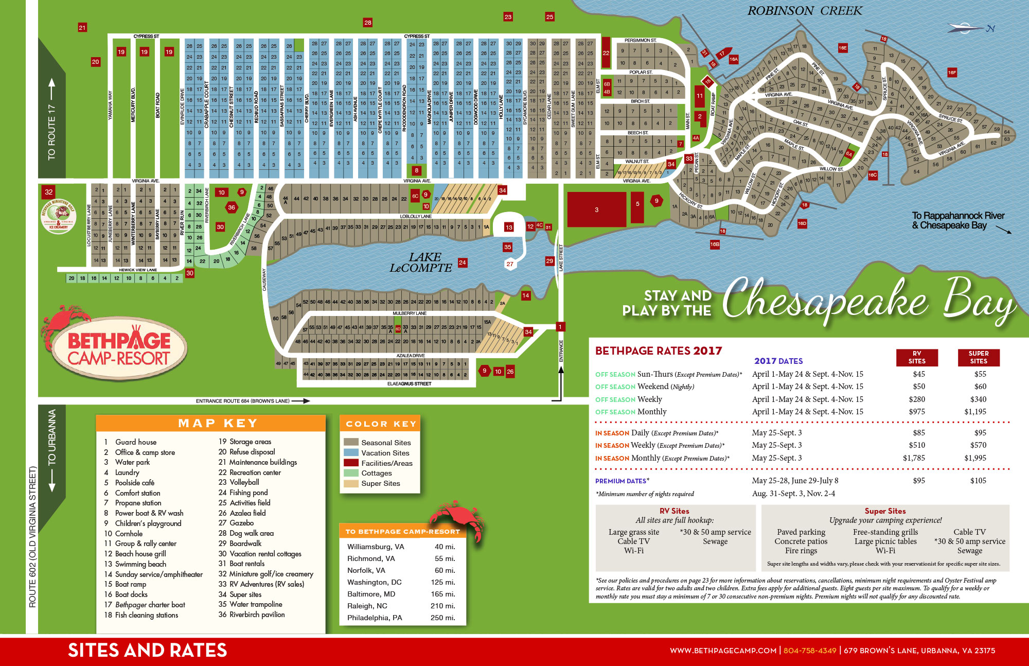 Resort Map Bethpage Camp